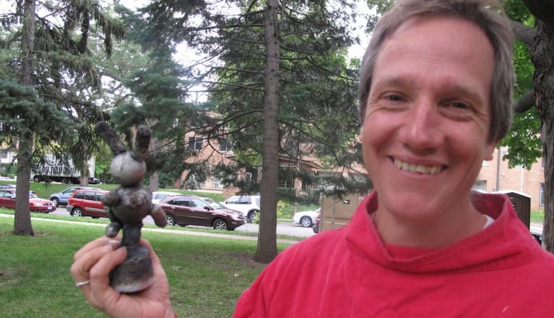 Mark Safford with Bunny